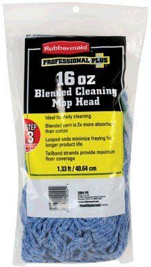 """Rubbermaid FGX884PR04 Pro Plus Blended Mop Refill by Rubbermaid. $36.99. """"RUBBERMAID"""" PRO PLUS BLENDED MOP REFILL  Size : 16 oz.  Ideal for daily cleaning  Blended yarn is 2 times more absorbent than cotton  Synthetic mop yarn resists abrasive floor surfaces"""