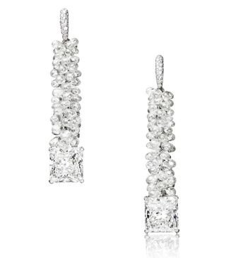 De Grisogono boucles d'oreilles haute joaillerie diamants
