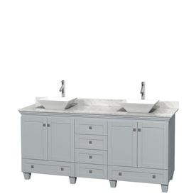 Wyndham Collection Acclaim Oyster Gray (Common: 72-In X 22-In) Vessel
