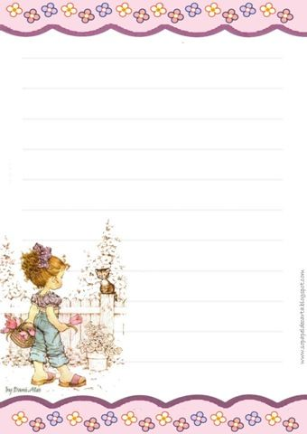 Papel de carta para imprimir sem linhas pesquisa google - Papel decorativo infantil ...