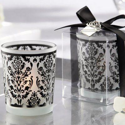 Damask Glass Tealight Holders ($13.16 for set of 4)