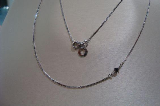 Catenina oro bianco 18 Kt Diamante nero Roberto Giannotti AC15 GioielliVarlotta