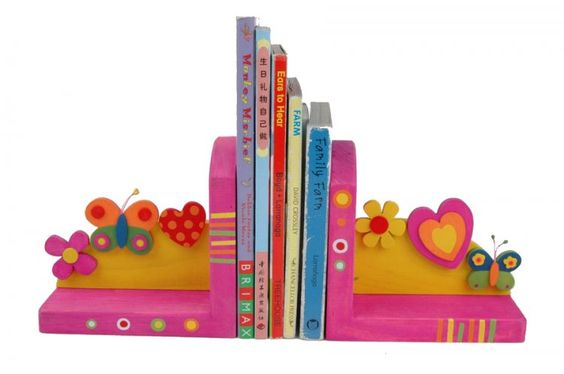 Flower  & Butterfly Pink Bookends