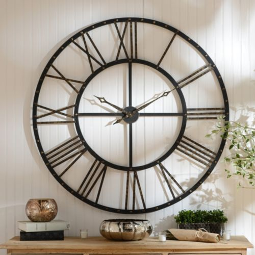 Kirklands Silver Wall Decor : Addison open face clock products and faces