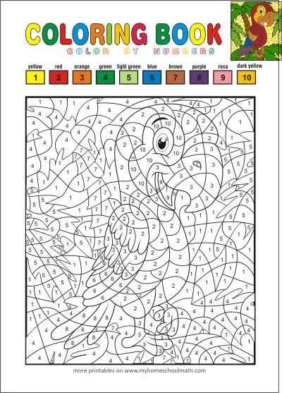 Color By Numbers Free Printable Coloring Books For Kids Printable Coloring Book Coloring Books Kids Coloring Books