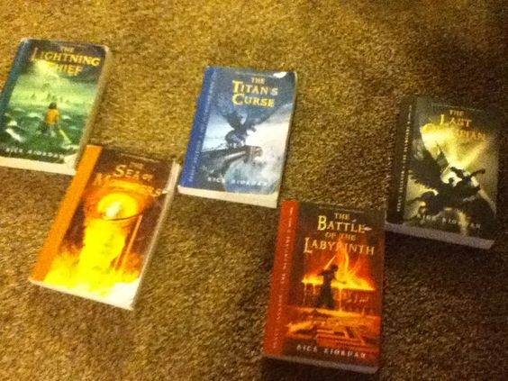 Percy Jackson books! FAVORITE SERIES!! If you haven't read this series yet, you definitely need to!