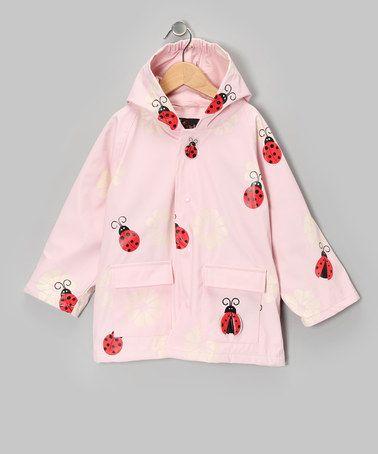 Foxfire Light Pink Ladybug Raincoat - Girls | Girls Toddlers and