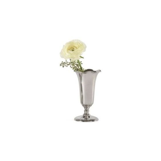 Pewter Bud Vase - Ruffle Bud Vase. - French Country - Pierre Deux (15 KWD) ❤ liked on Polyvore featuring home, home decor, vases, pewter bud vase, french country home decor, pewter vase and french country home accessories