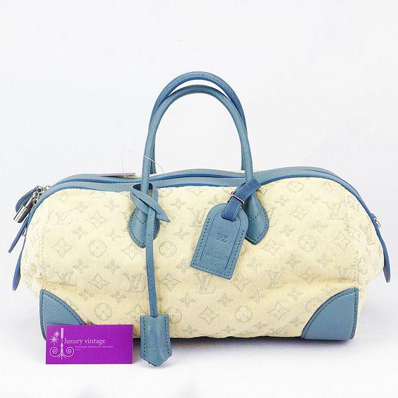 #LV Speedy Round Cream Colour Canvas Monogram With Leather Good Condition ref.code-(KKEO-1)