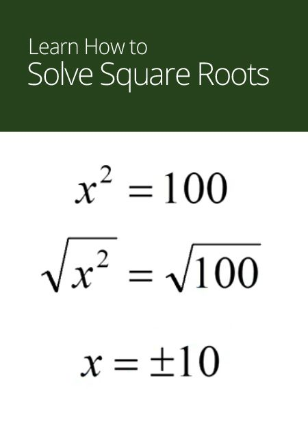 solving square roots