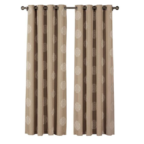 Window Elements Venice Embroidered Faux Linen Extra Wide