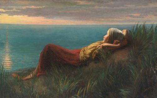 Dreams (Dolce far niente) by Jozef Israëls (Dutch, 1824–1911)