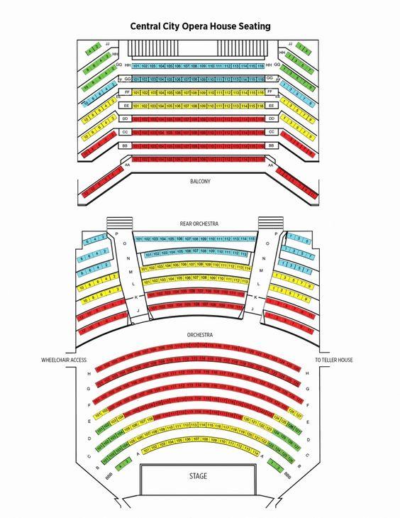 The Brilliant Peabody Opera House Seating Chart Seating Plan Seating Charts Theater Seating