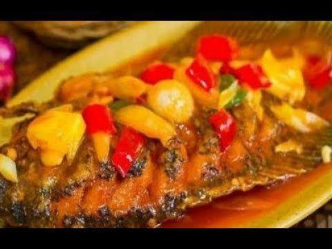 Resep Asam Manis Ikan Nila Makyus Youtube Fish And Seafood Food Seafood