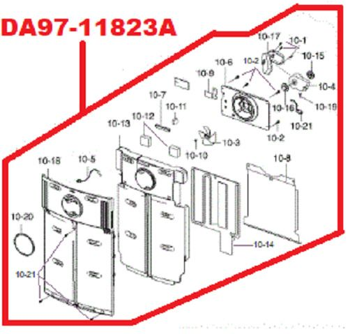 Samsung Refrigerator Evaporator Cover Assembly Da97 11823a White Samsung Samsung Refrigerator Appliance Parts Samsung