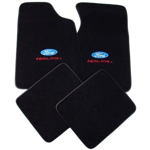 Mustang Floor Mats W Ford Racing Logo Black 79 93 8886 801 207