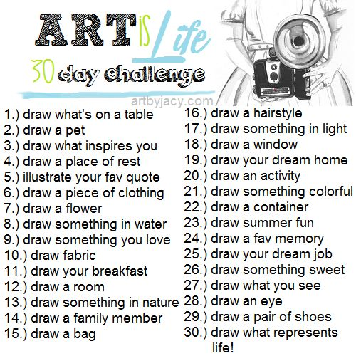 Art Journal Ideas, or as some kids finish early or sub plans students pick one to draw and shade that fills the paper.: