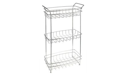 Three-Tier Chrome Storage Stand, need this for the pantry at the new house