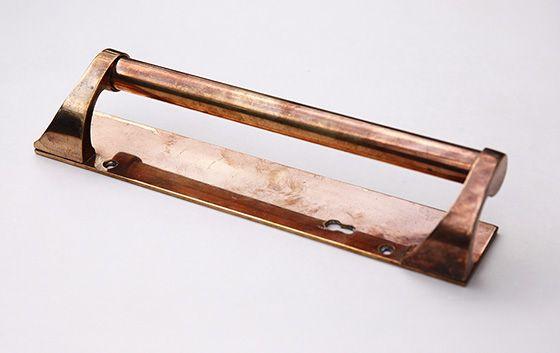 アンティーク 真鍮のドアハンドル 30.5cm 店舗・玄関ドアなどに bh637 - アンティーク&オールディーズ オンラインストア