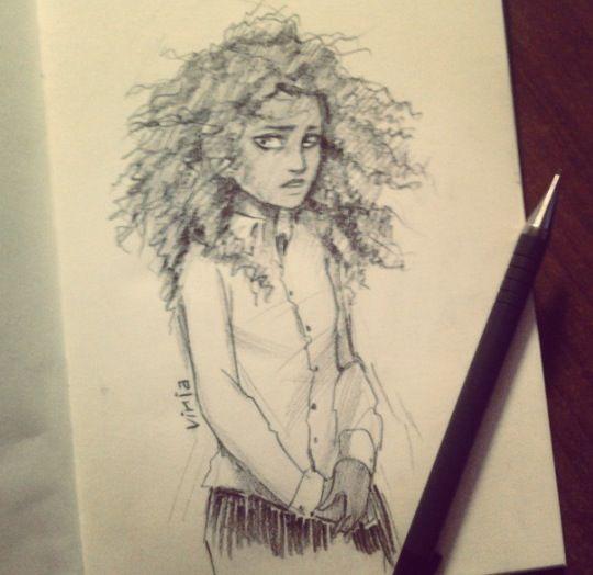 An amazing sketch of Hazel Levesque