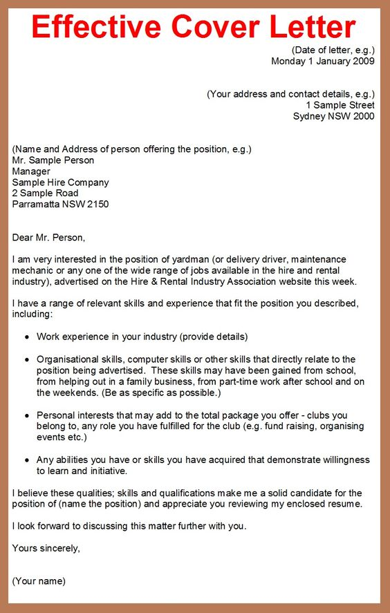 how to make cover letter for applying job