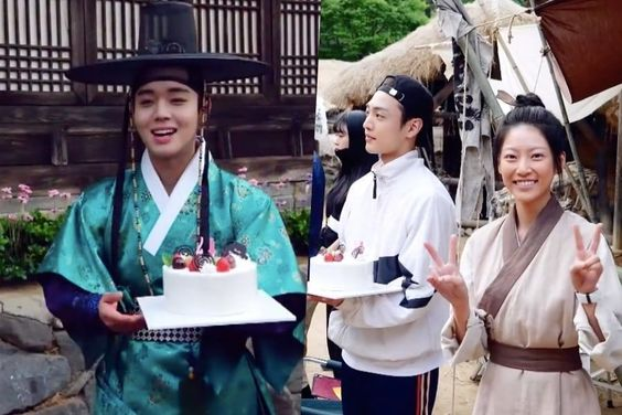 "Watch: ""Flower Crew: Joseon Marriage Agency"" Cast Makes Park Ji Hoon Smile With Surprise Birthday Celebration"