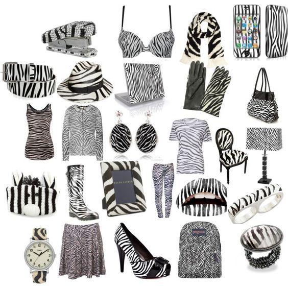 Zebra!!!, created by xxxblackrainbowxxx on Polyvore Crazy zebra everything!!!