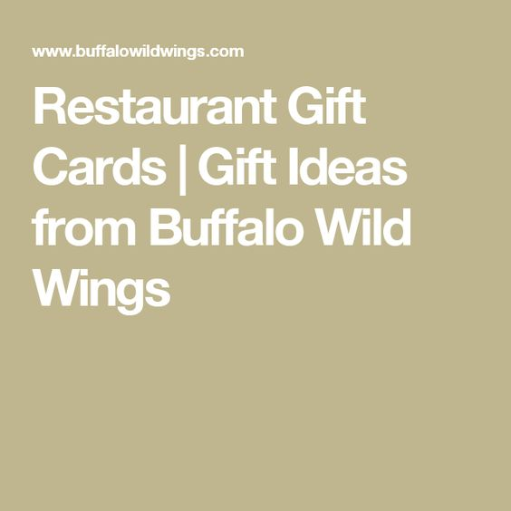Restaurant Gift Cards | Gift Ideas from Buffalo Wild Wings