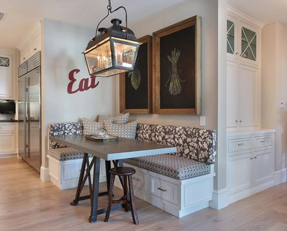 Build a Corner Booth Seating   Interior Photos of Kitchens and Breakfast Nooks