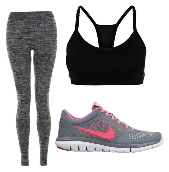 """Untitled #15"" by pandaroomu ❤ liked on Polyvore featuring adidas and NIKE"