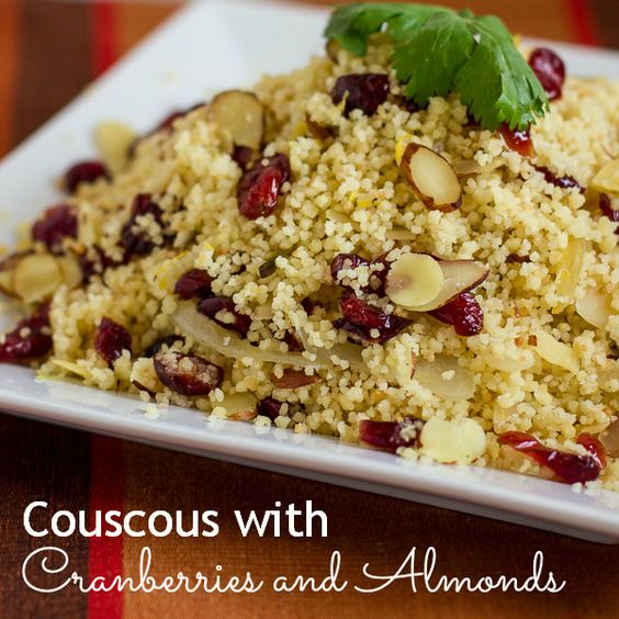 Couscous, Cranberries and Almonds on Pinterest