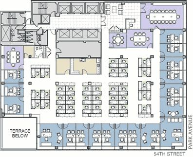 Office plan and offices on pinterest for Corporate office layout design