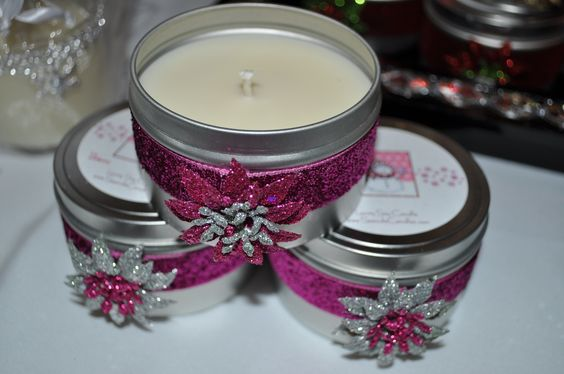Hot Pink and Sexy Soy Luxury Candles - 8 oz tin will last 40-45 hours