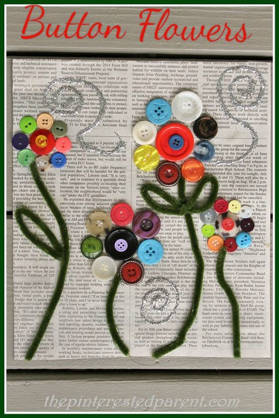 Pinterest the world s catalog of ideas for Button crafts for adults