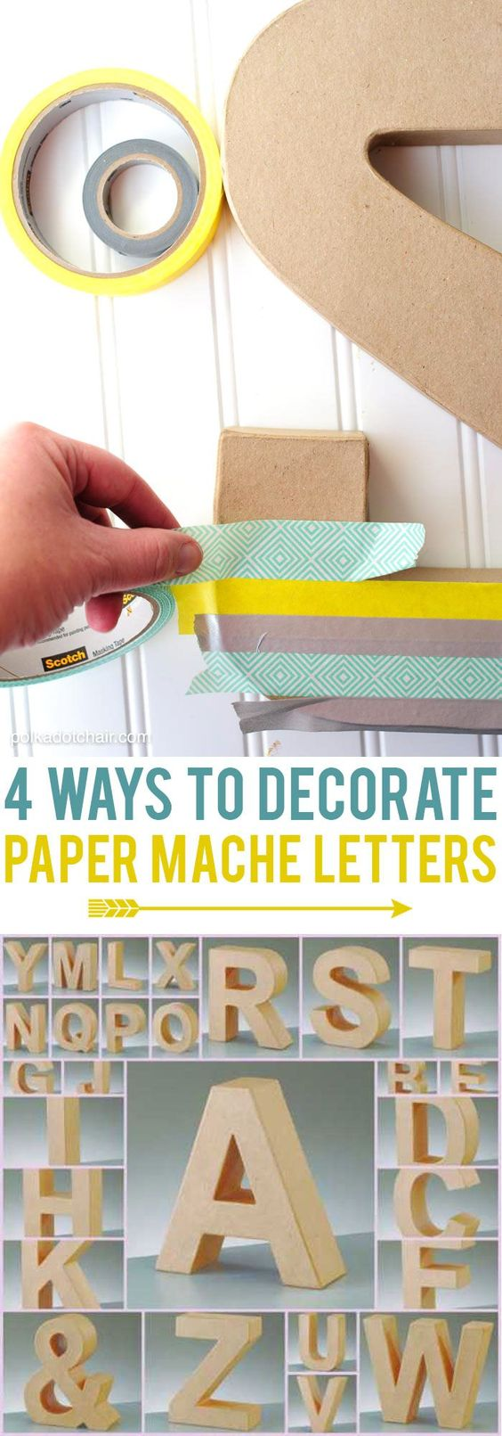 4 different ways to decorate paper mache letters [ad]