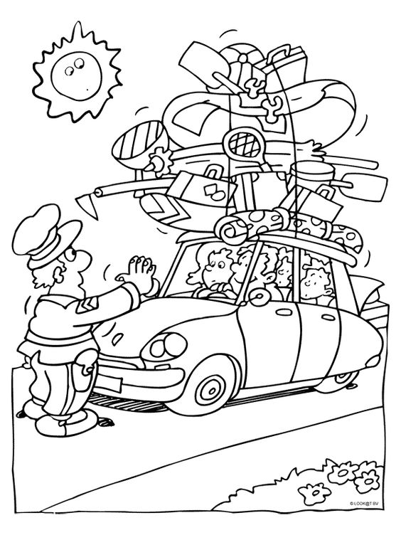 politie kleurplaten politie