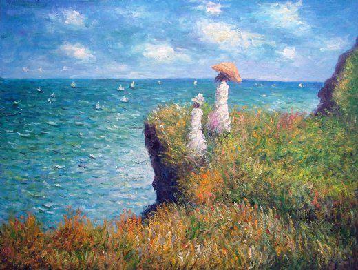 claude monet famous paintings   Painting claude monet cliff walk ...
