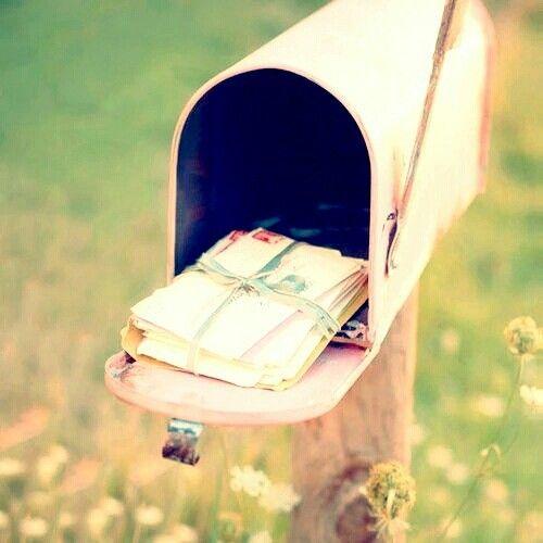 Imagem de pink, letters, and mail