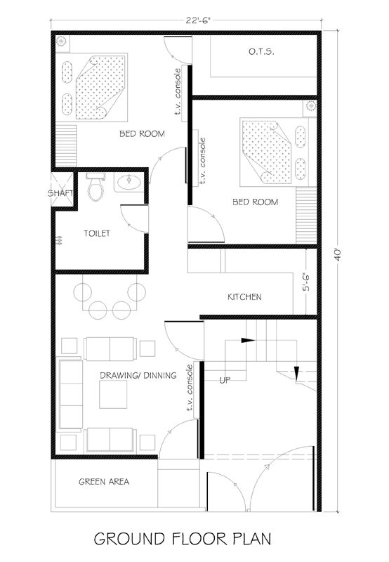 22 5x40 House Plans For Your Dream Home House Plans 2bhk House Plan 20x40 House Plans Indian House Plans