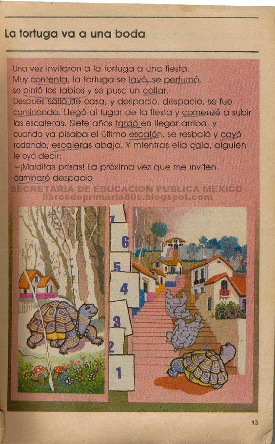 Libros de Primaria de los 80's: La tortuga va a una boda (Mi libro de segundo Lecturas)