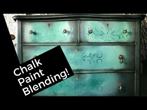Chalk Paint Blending Brush Meshing Technique With Faded Stenciling Effect Iod Transfer Youtube Chalk Paint Blue Chalk Paint Chalk Paint Brushes