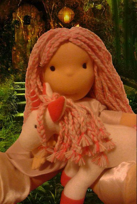 kyla and stardust - waldorf doll Ispirated