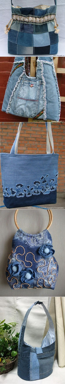 Джинсовые переделки - сумка из джинсов - Рукоделие