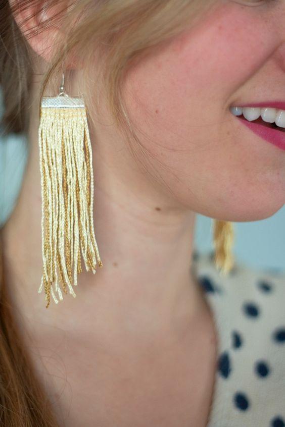 diy fringe earrings jewelry-beads