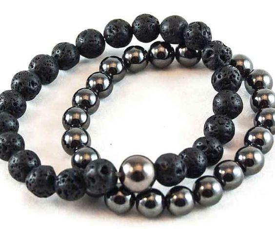 Men's custom bracelets by PearlsNchain on Etsy, $65.00
