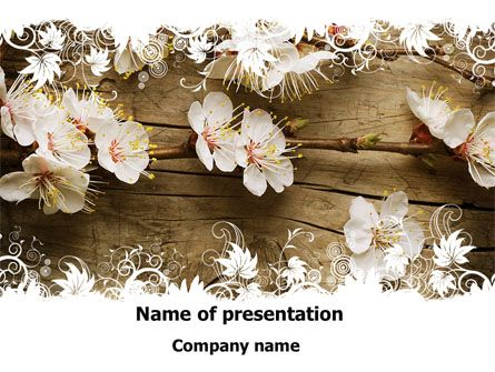 Spring Blossom Apple Tree PowerPoint Template Vicky Pinterest - spring powerpoint template