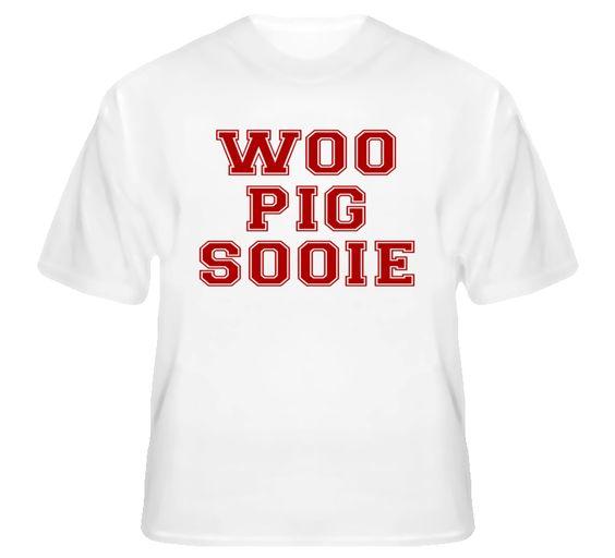 Woo Pig Sooie - Arkansas Football Slogan T Shirt