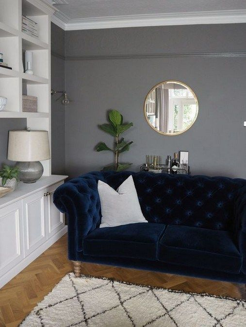 20 Trendy Living Room Decor Navy Couch Dark Walls Couch Dark Decor Living Navy Room Trendy Wal Blue Sofas Living Room Blue Sofa Living Living Room Grey