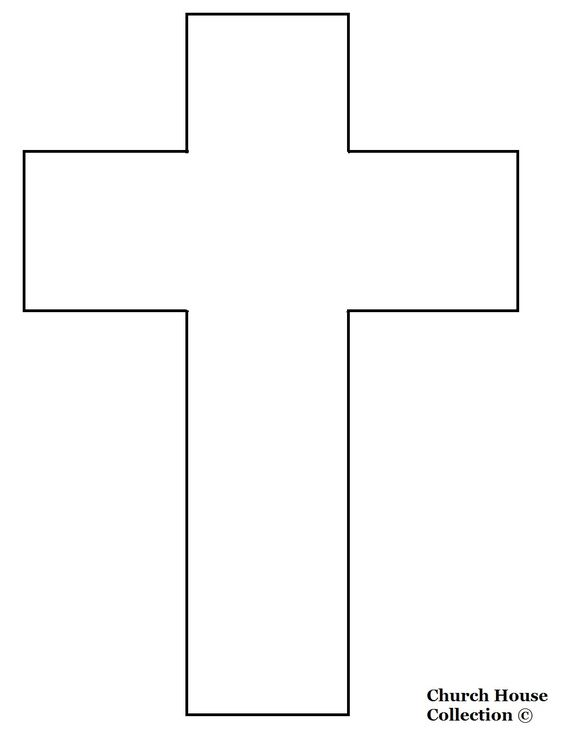 Free printables templates jesus died on the cross cutout craft printables pinterest for Cross templates free