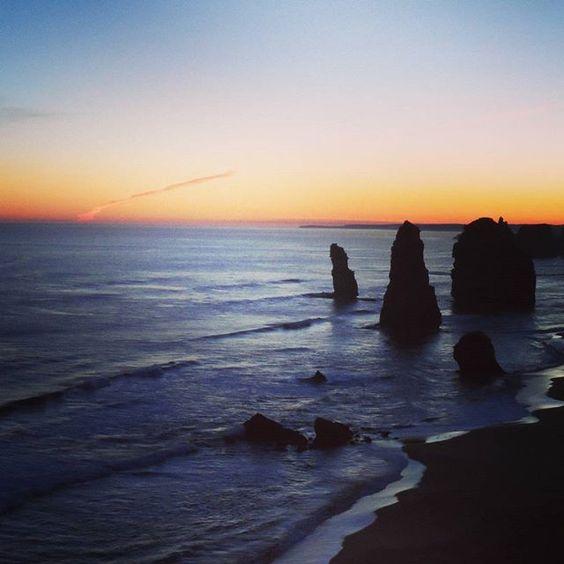 #sunset #oceanroad #sea #12apostles by verba32 http://ift.tt/1ijk11S